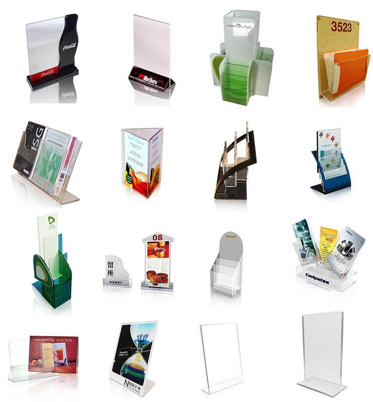Pop Acrylic Brochure Holder, Clear Acrylic Ballot Box