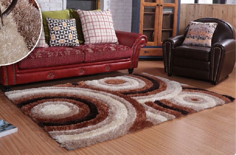 The Carpet Tile with Stretch Yarn and Silk 3D Feel