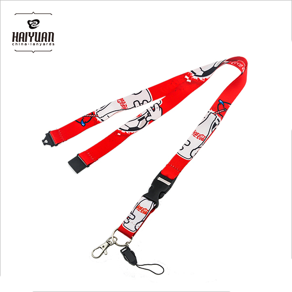 Custom Heat Transfer Full Printing Lanyard with Mobile Phone Holder