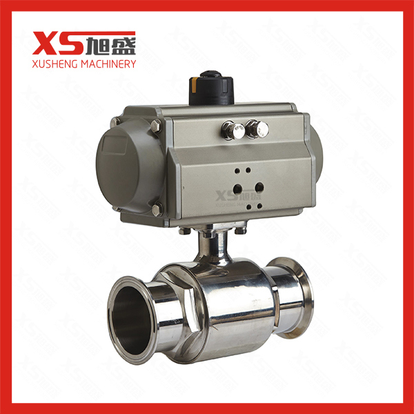 Pneumatic Actuator Sanitary Straight Ball Valves