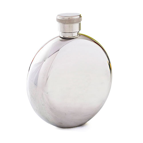 High Quality Stainless Steel Round Hip Flask