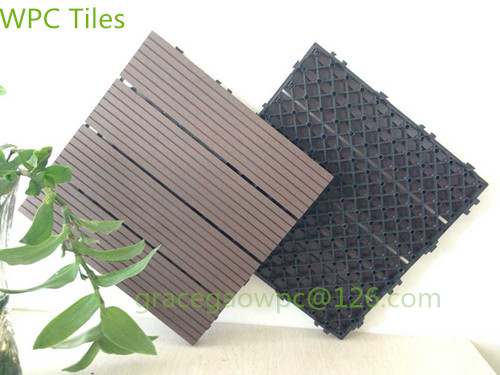 Swimming Pool Paver DIY Decking 300*300mm / WPC Interlocking Deck Tiles