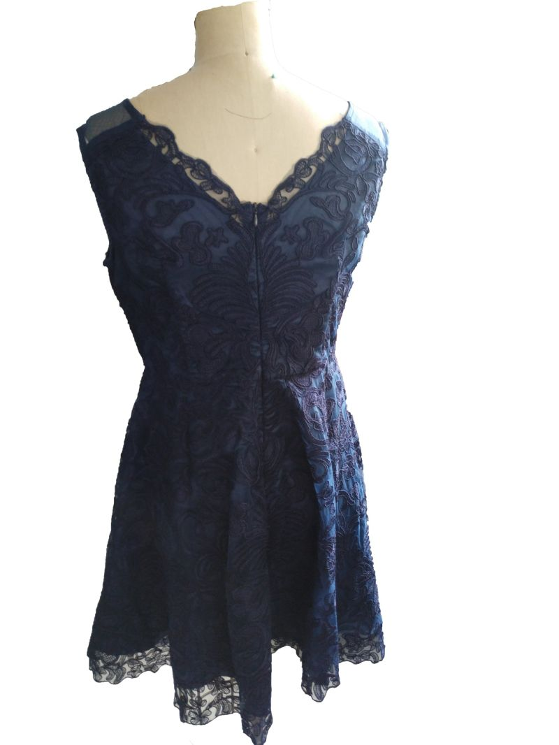 Summer Lace Jacquard Sleeveless Elegant Ladies Dress