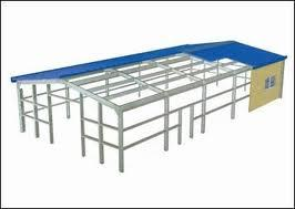Prefabricated Building Construction Projects Steel Structure Mobile Workshop