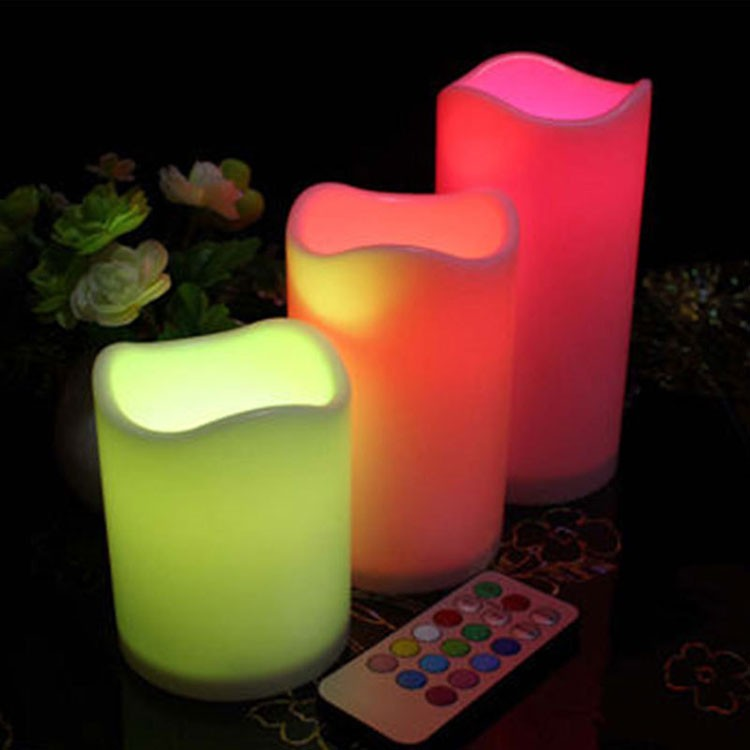 Colorful LED Pillar Candles