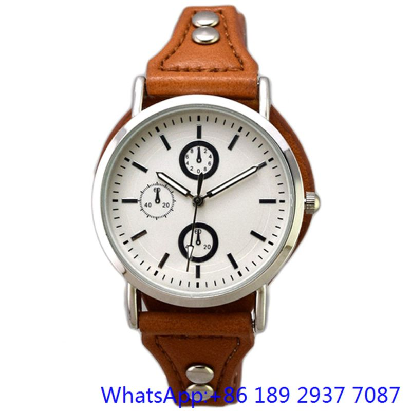 Fashion Top-Quality Alloy Watch Quartz Man Watches Genuine Band Chronograph Dial (15165)