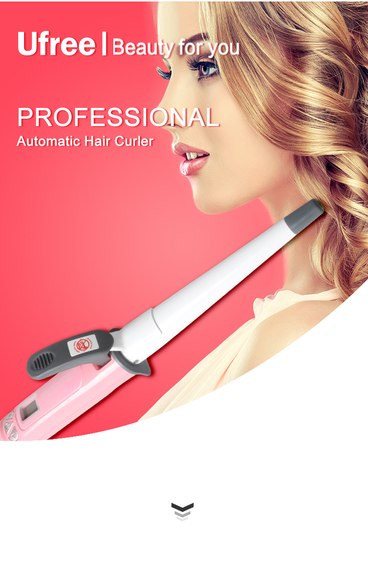 Tapered Hair Curler with Clipper Curling Wand for Wholesale