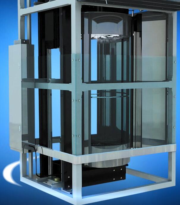Traction Vvvf Circular Panoramic Passenger Elevator with Horizontal Rotating