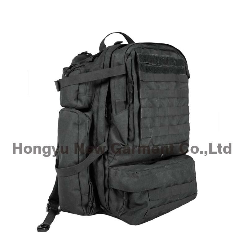 Heavy Duty Military Army Big Black Backpack Bag (HY-B096)