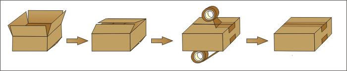Semi-Automatic Carton Box Case Packing Sealing Machine Fxj5050I