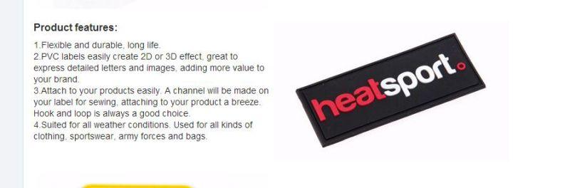 Rubber Symbol for Shoes Rubber Garment Labels/Garment Main Label/Garment Brand Label for Promotion
