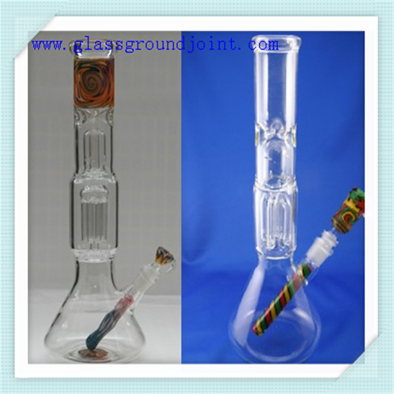 Clear Borosilicate Glass Skirted Cone Socket Adapter for Hookah