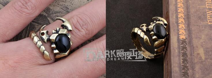 Fashion Black Jewellery Ring Charm Copper Color Animal Modeling