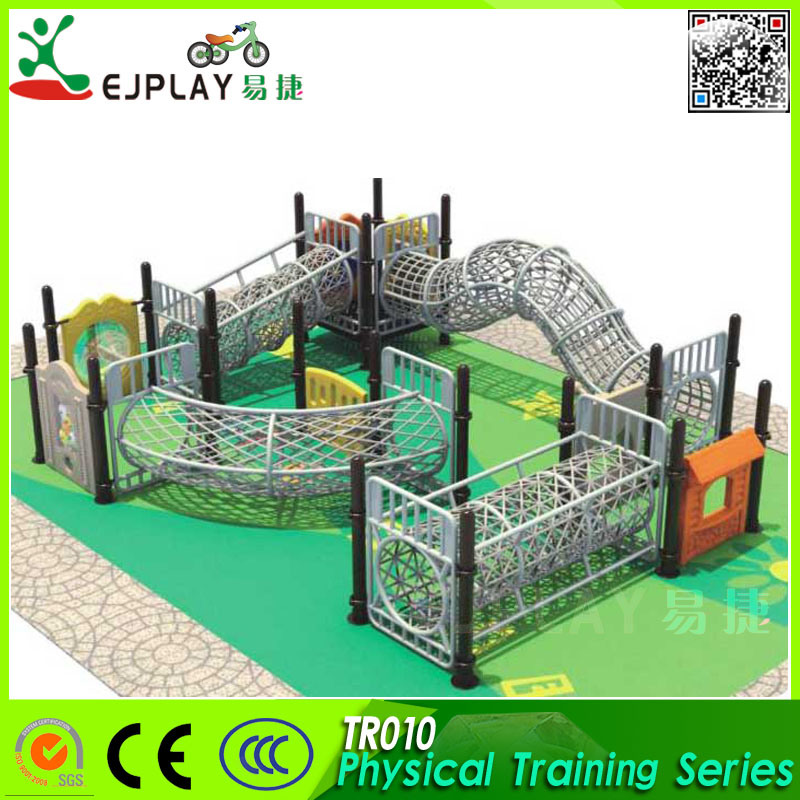 2018 Children Physical Climbing Nets Large Outdoor Playground with Rope Structure
