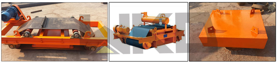Auto Cleaning Iron Removing Permanent Magnetic Separator for Limestone