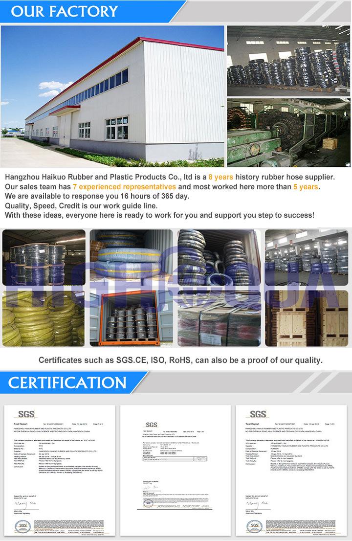 Steel Wire Braided High Pressure Rubber Hose Hydraulic Hose DIN En853 1sn