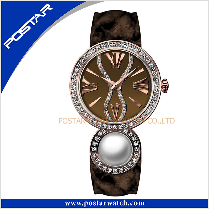 Fashion Pearl Ladies Quartz Stainless Steel Watch with Mop Dial