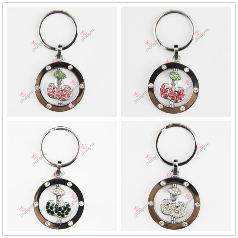 Chinese Zinc Alloy Key Chain Factory Wholesale Cheap Zinc Alloy Rotatable Funy Key Ring