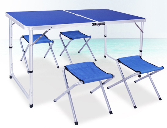 Camping Dining Table with Four Chair