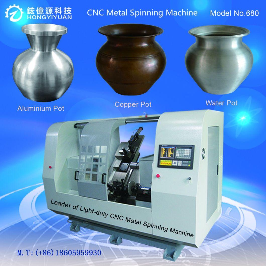 High-Precision Automatic Mini CNC Metal Spinning Lathe Machine (Light-duty 680B-11)