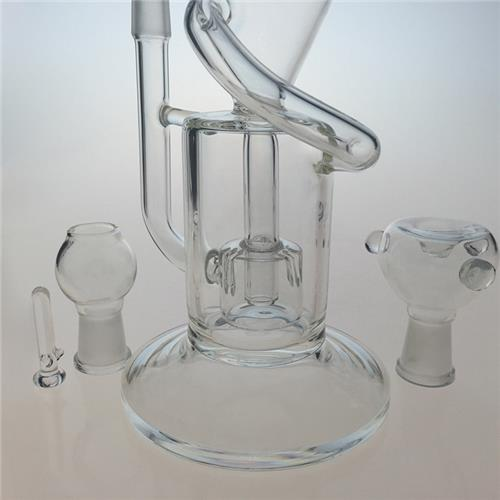 Klein Recycler Dual Chamber DAB Rig Glass Smoking Pipe (ES-GB-402)