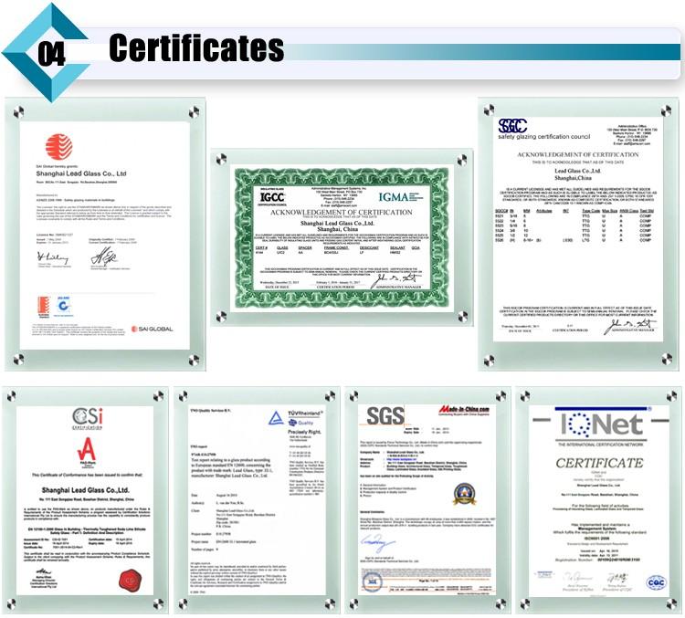 Insulated Glass Certificate