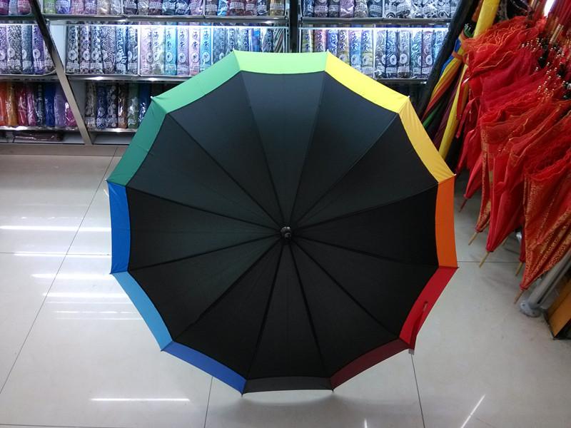 Colorful Printing Straight Umbrella (JYSU-08)