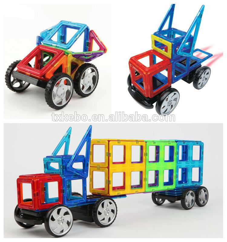 Hot Plastic 3D-Magnetic Building Blocks Toys For Kids 92PCS Set