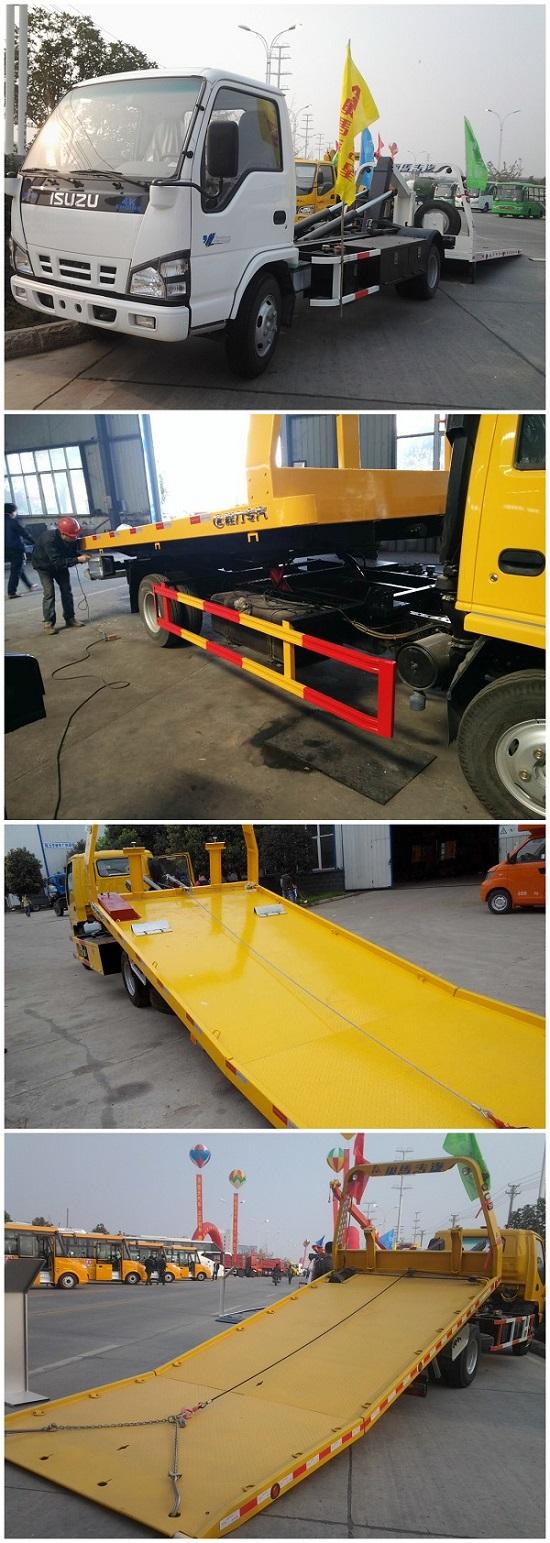Isuzu Brand 4X2 600 Recovery Truck Vehicle Tow Truck Under Lift