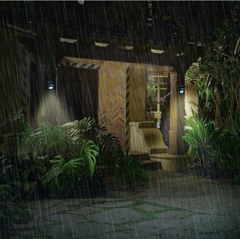 8PCS LED Solar Motion Sensor Wall/Garden Light
