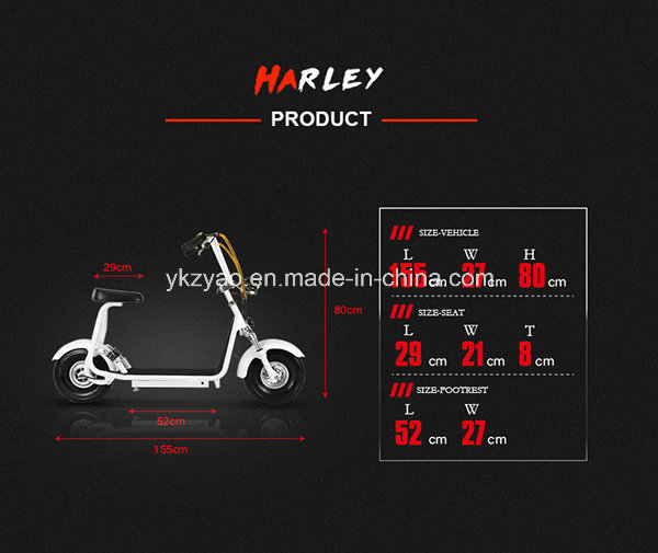 Fashionable 2 Wheel E-Scooter Hot-Sell Small Size Harley Scooter with Ce