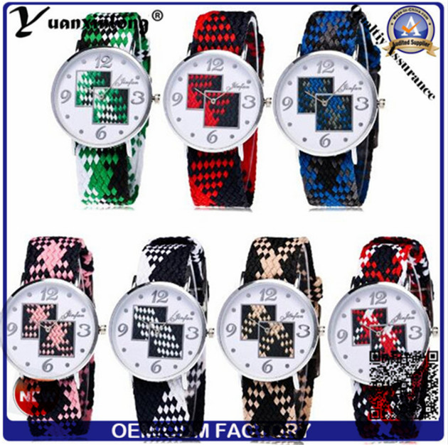 Yxl-204 Hight Quality Quartz Sport Men Women Nylon Watch Custom Wholesale Woven Lady Wristwatch
