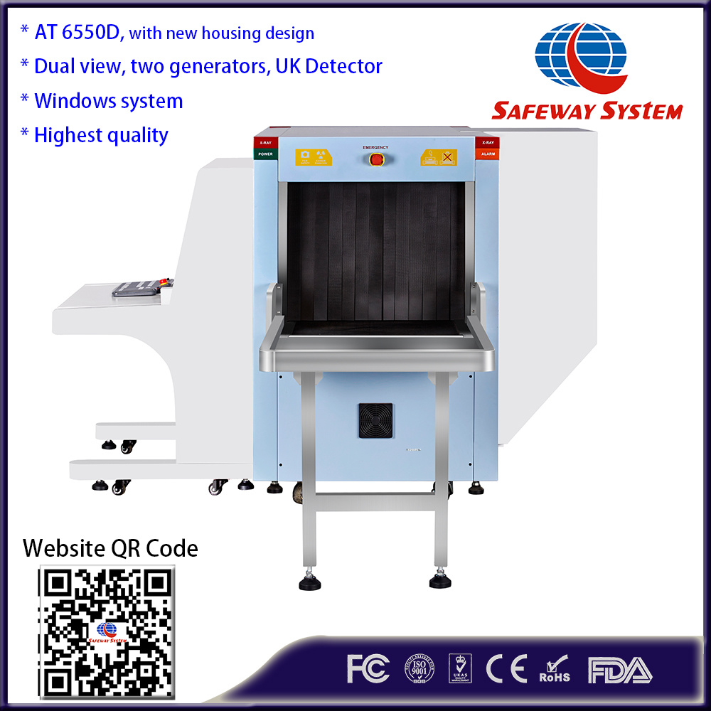 Handbag Checker Baggage and Luggage, Parcel Inspection Scanner with Dual-View Imaging with Two Generators, Tip Function and Explosive Detection