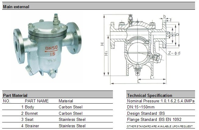 Cast Steel Flanged Steam Trap (CS41H)