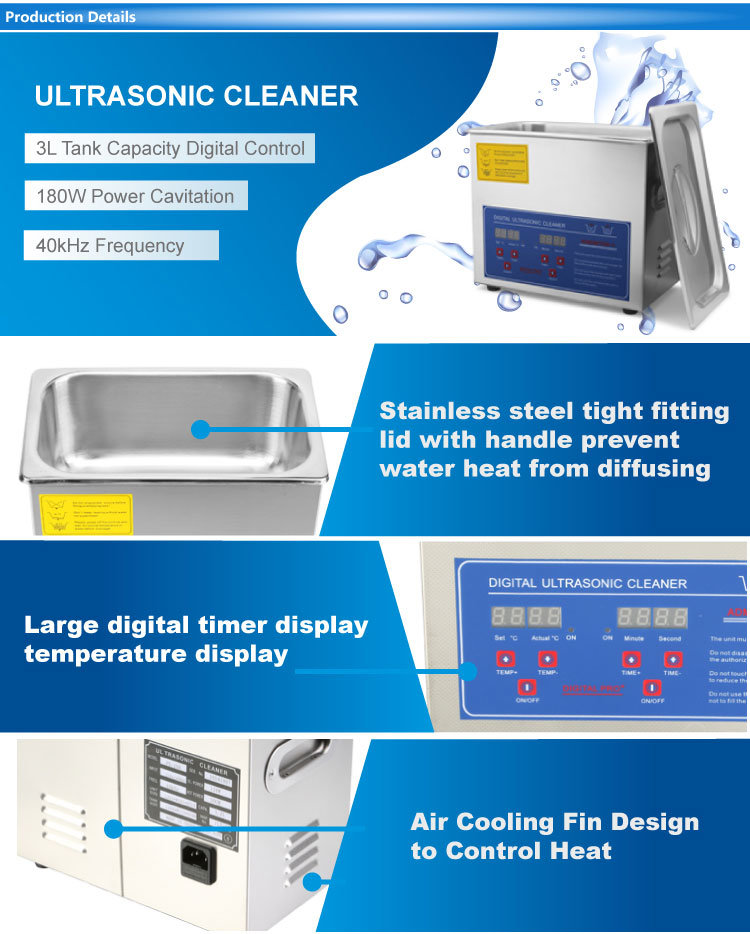 Jps-30A 6L Dental Ultrasonic Cleaner