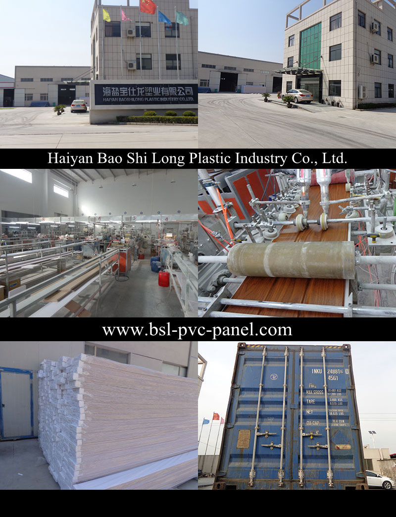 Wood Design PVC Wall Panel PVC Ceiling PVC Profiles Hotstamp PVC Tiles