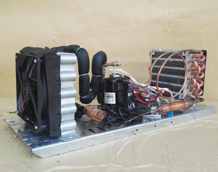 Purswave St19A DC 12V24V48V DC Air- Cooled Refrigeration Units Mini DC Air Conditioner Units, with DC Mini Compressor 400W Capacity