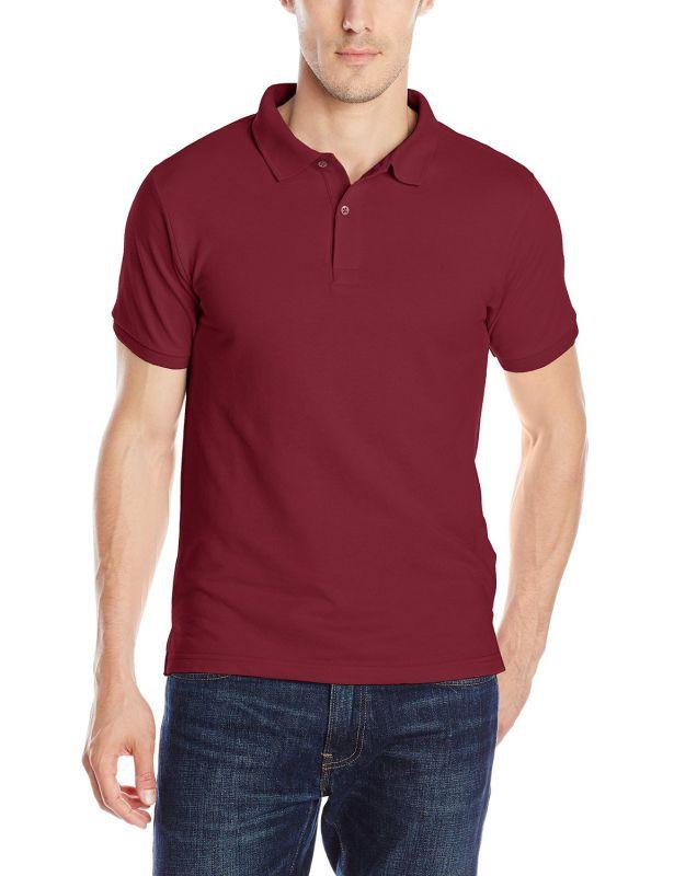 Men's Retail Custom Pique Fabric Uniform Polo Shirt