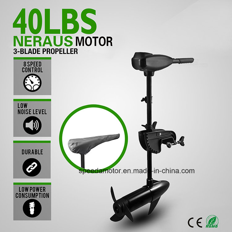 Neraus 40lbs Electric Outboard Trolling Motor for Kayak, Fishing Boat