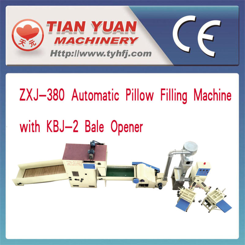 Zxj-380 Automatic Pillow Filling Machine and Kbj-2 Bale Opener