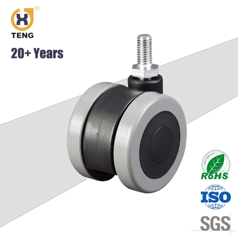 High Quality Furniture Swivel PU Caster Wheels, Chair Sofa Caster, Twin Caster, Office Chair Caster