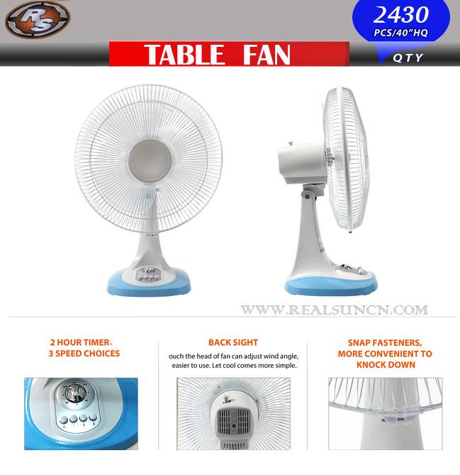 12inch Plastic Table Fan Desk Fan-Top Selling in Europe