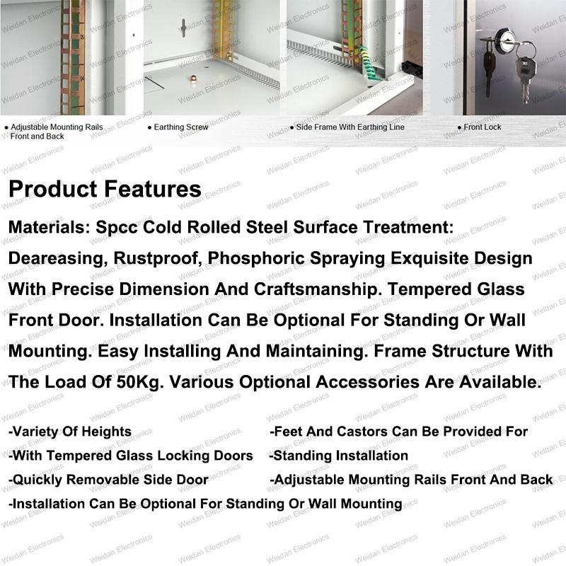 Gq 6u-25u Metal Rack Enclosure Telecommunication&Broadcasting Wall Mounted Cabinets