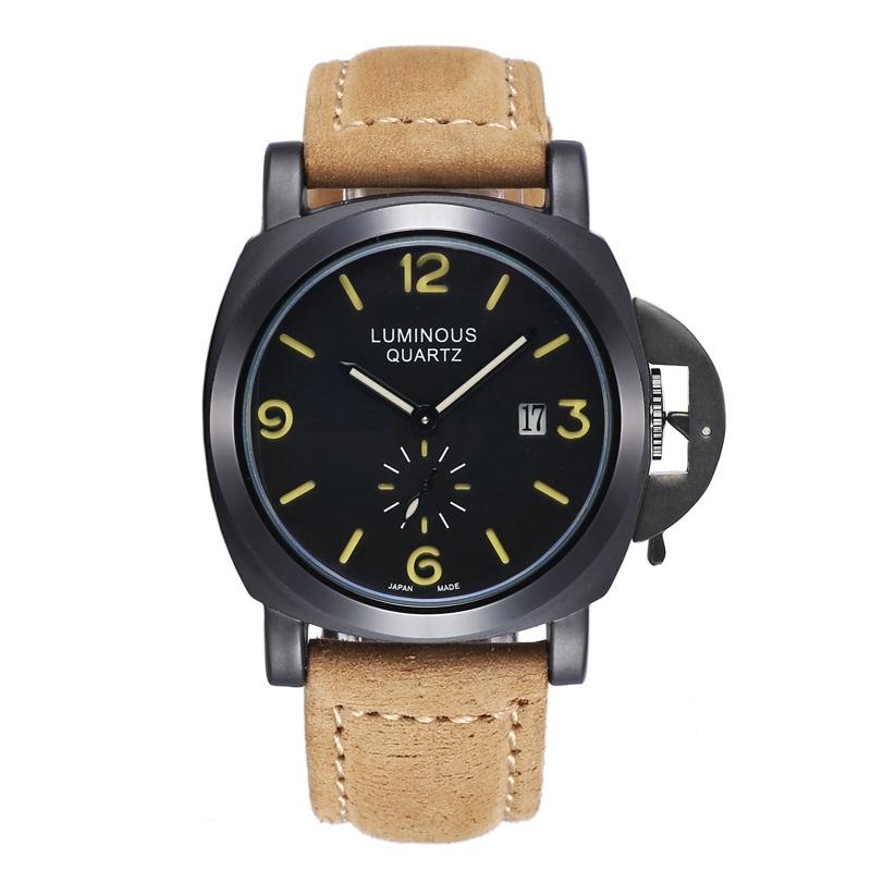 Multifunctional Luminous Fashion Quality Sports Fashion Men Big Dial Military Waterproof Watch