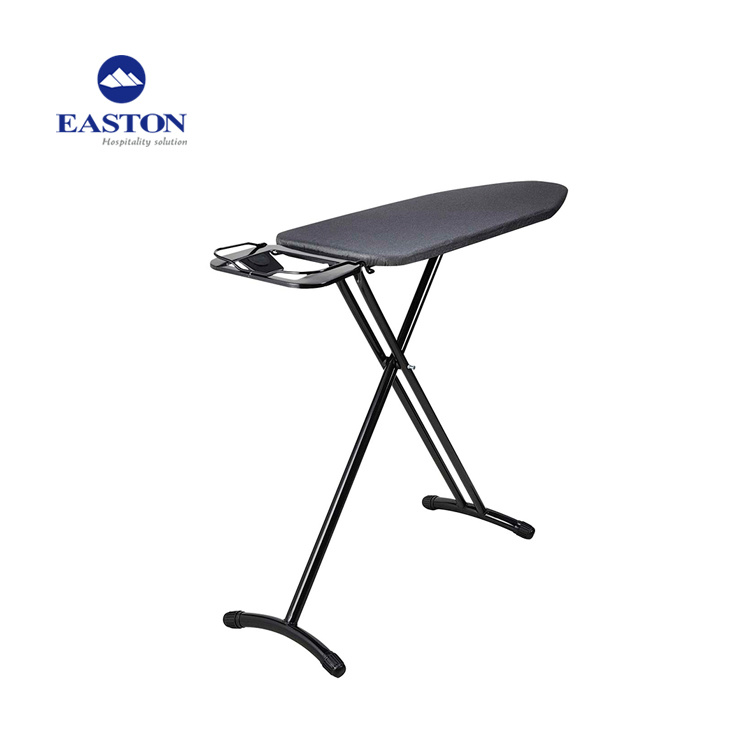 Hotel Ironing Board/Table with Fire Resistant Steel Mesh Cover