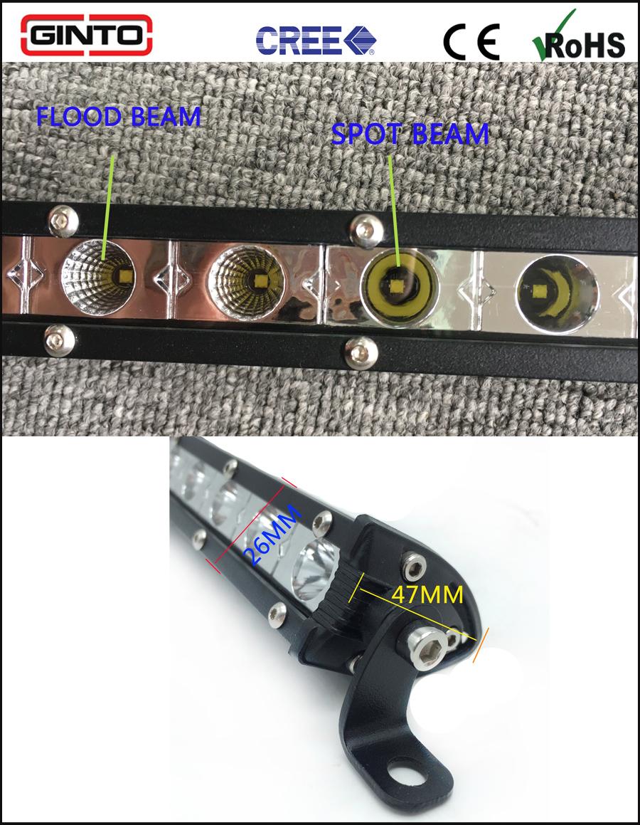 Hot Selling 3W CREE Mini Single Row Offroad LED Lightbar 7.4inch 18W Car Light Bar