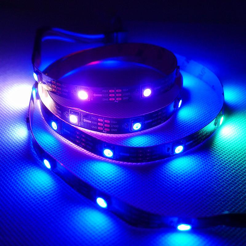 335 120LED 8mm 12V 4.8W Blue LED Flexible Strip