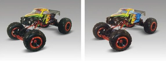 1/8 Scale 3 Channel RC Toy Car Metal Structure Climbing Car