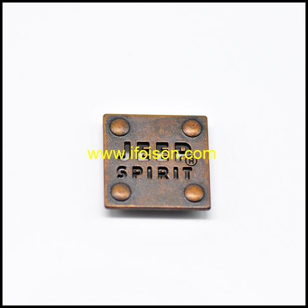 High Quality Metal Tag Button for Bag