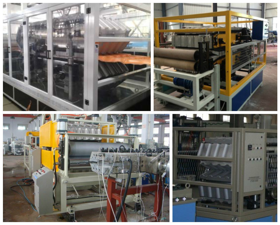 PVC Glazed Tile Extrusion Making Machine